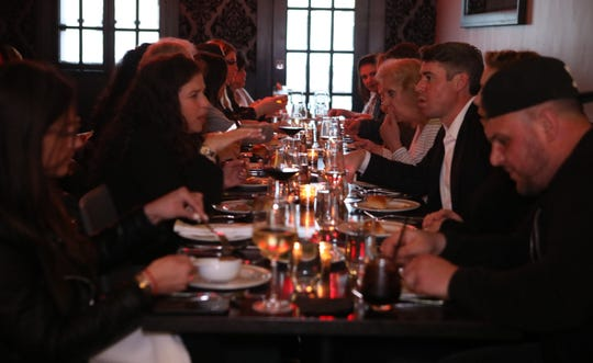 "Local residents have dinner with food reporter Jeanne Muchnick as apart of lohud's ""Dinner with Jeanne"" at tredici SOCIAL in Bronxville April 9, 2019."
