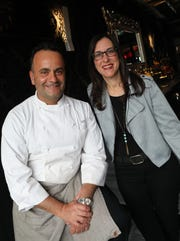 "From left, Jeanne Muchnick is photographed with Chef Giuseppe Fanelli before her ""Dinner with Jeanne"" at tredici SOCIAL in Bronxville April 9, 2019."