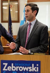 Rockland District Attorney candidate Assemblyman Kenneth Zebrowski, D- New City, discusses plans to prosecute illegal housing and other safety violations during news conference at a firehouse in Spring Valley April 11, 2019.
