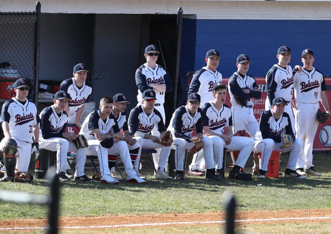 Byram Hills defeated Harrison 3-1 in  baseball action at Byram Hills High School in Armonk April 10,  2019.