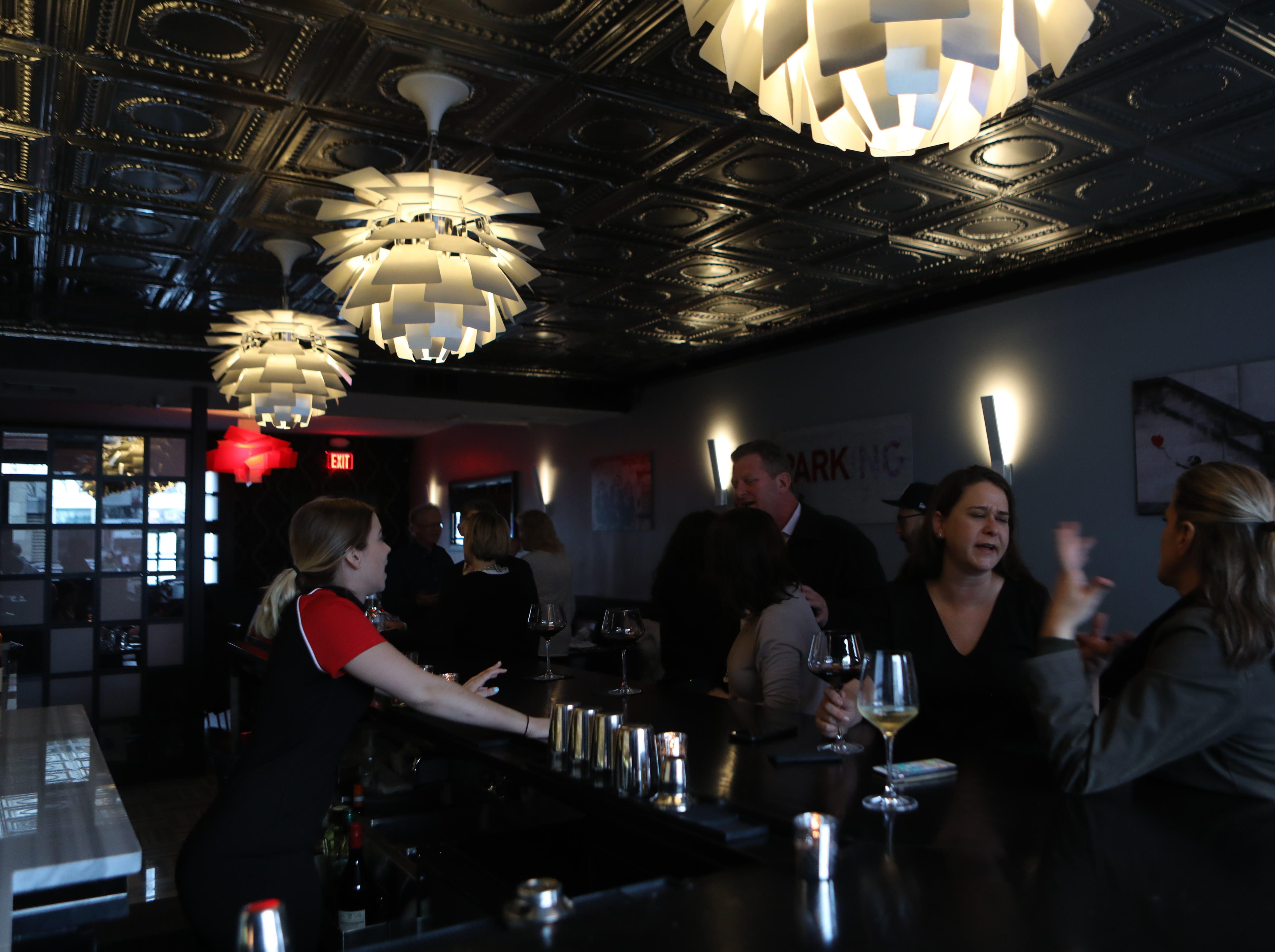 The bar at Tredici Social in Bronxville April 9, 2019.