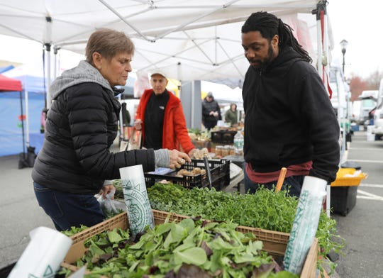 Scenes from the second week of the Nyack Farmers Market on Thursday, April 11, 2019.