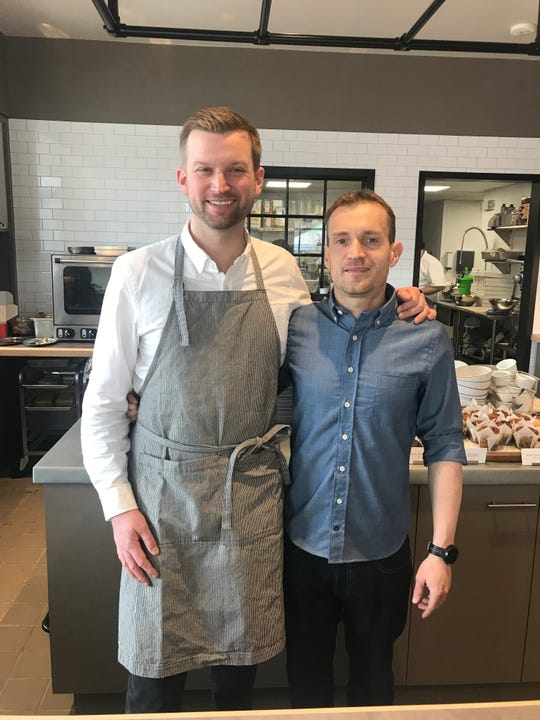 Co-owners Matt Gorney, left, and executive chef Ryan Hart at their newly opened Maple & Rose Cafe in Mamaroneck. Photographed May 8, 2019.