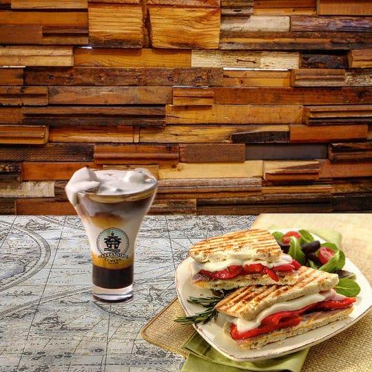 Panini and coffee from Titanic Coffee in Congers.