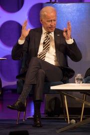 Former Vice President Joe Biden speaks in 2019 at the Irvine Auditorium at the University of Pennsylvania.