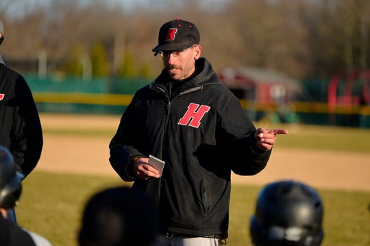 Haverford baseball coach Dave Beccaria, the former Salesianum third baseman.