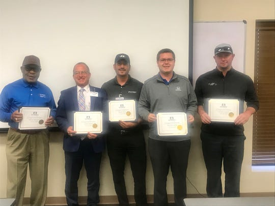 Patterson Auto Group Eagle Award winners for 1st Quarter 2019! From left to right: Henry Broadus, Steve Garner, Bobby Nunn, Dalton Smith and Michael Mason (not pictured: Mark Havens).