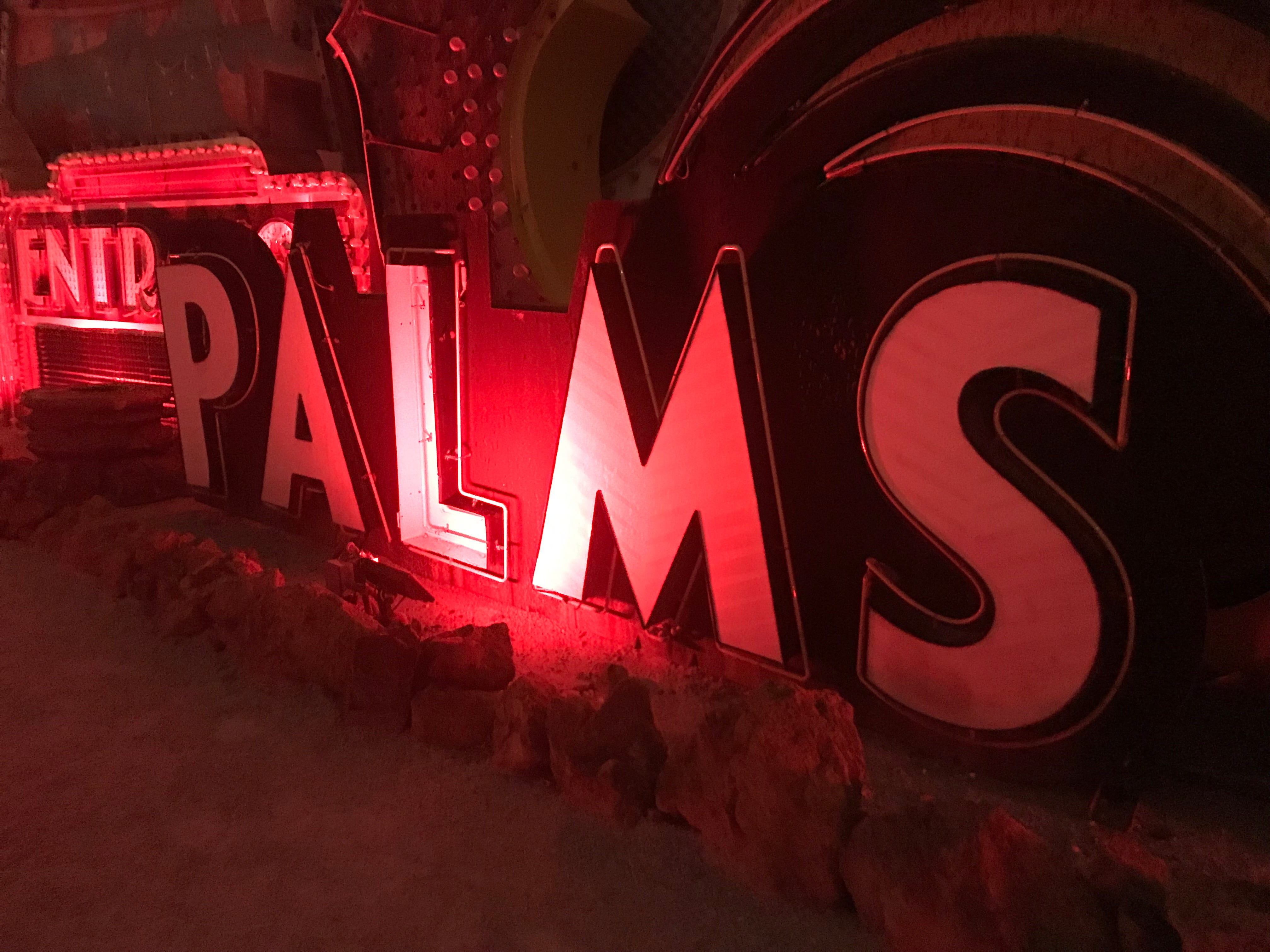 The Palms is still in business, but this sign is from an earlier era at the off-Strip casino hotel.