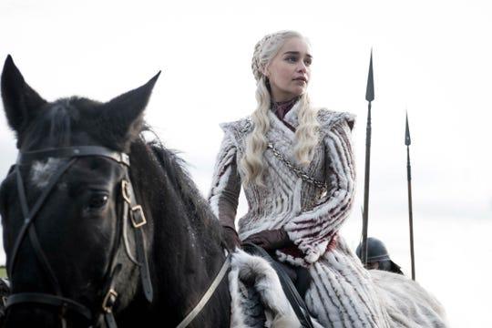 "Emilia Clarke as Daenerys Targaryen on ""Game of Thrones."""