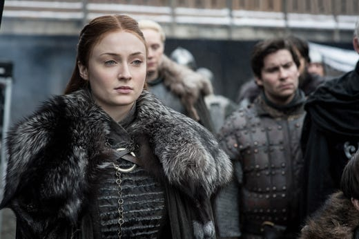 Sophie Turner as Sansa Stark on