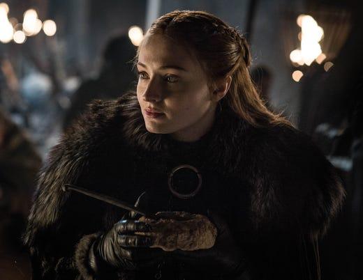 Sophie Turner as Sansa Stark on