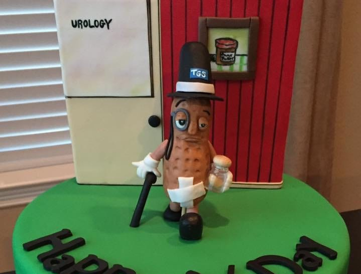 A vasectomy cake by Yanuli Rondon Cake Design in Katy, Texas.