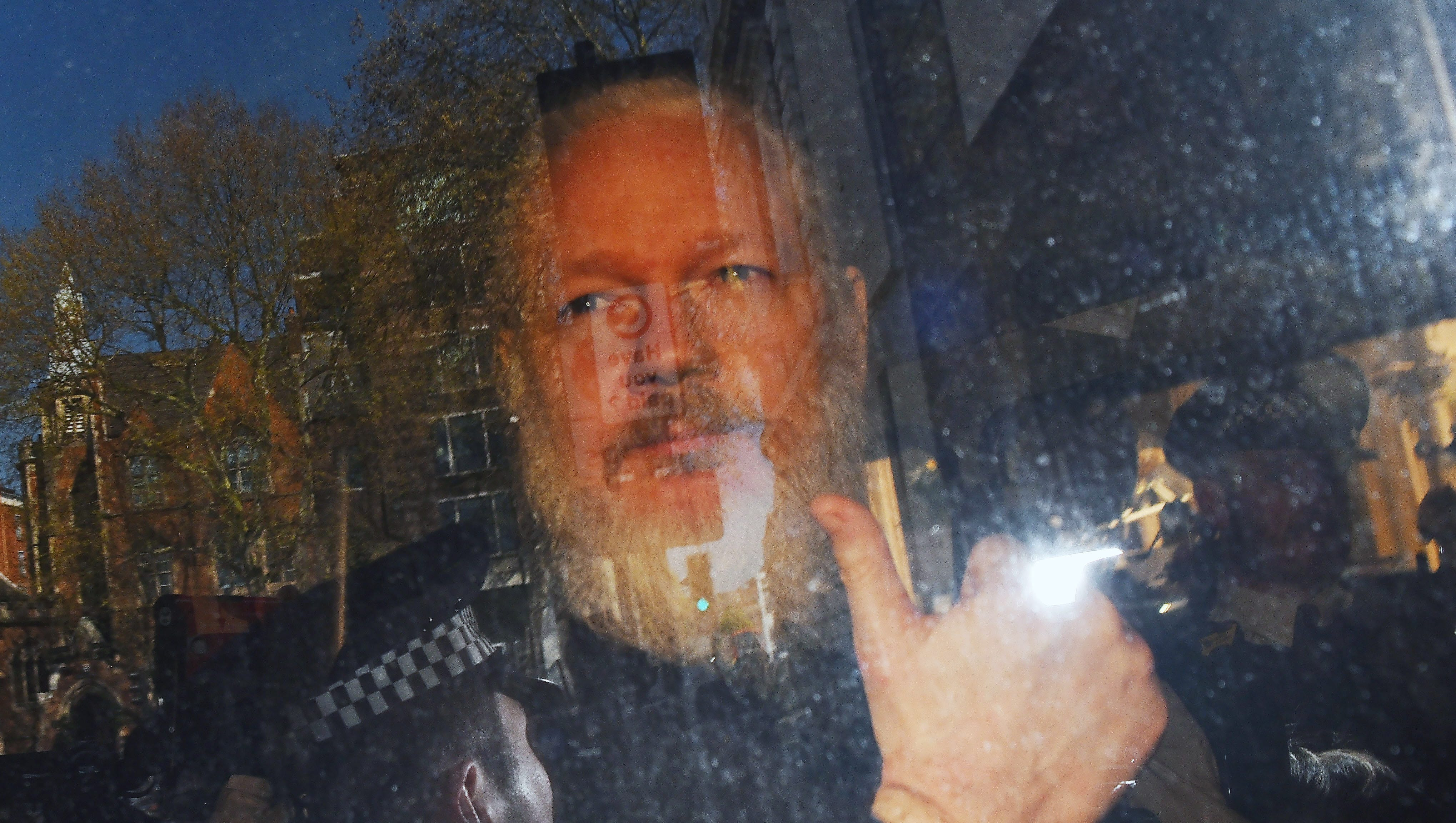 Wikileaks co-founder Julian Assange in London on April 11, 2019.