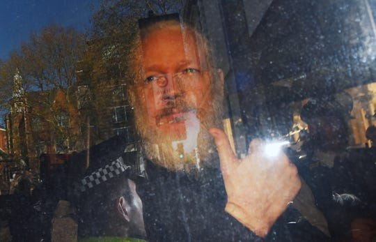 WikiLeaks founder Julian Assange in London on April 11, 2019.
