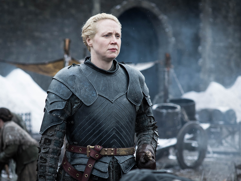 "Gwendoline Christie as Brienne of Tarth on ""Game of Thrones."""