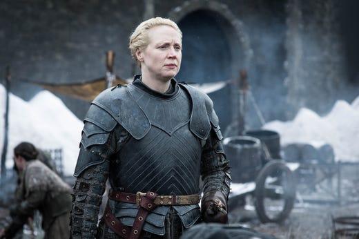 Gwendoline Christie as Brienne of Tarth on