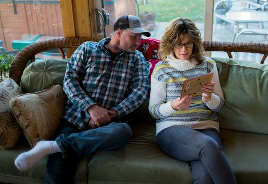 Mike Anders and Lorie Juno were devastated by the death of their father, Larry Anders, who died by suicide at a Wisconsin nursing home two days after Christmas in 2017. (Darren Hauk for KHN)