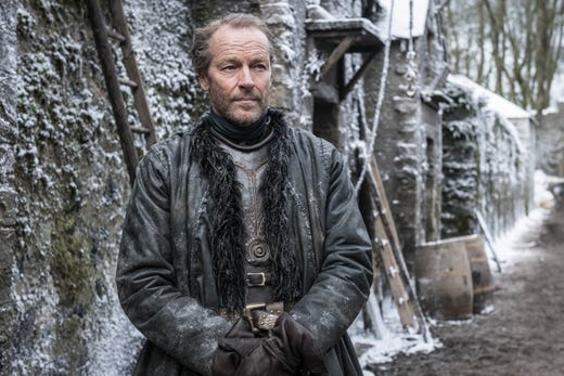 Iain Glen as Jorah Mormont on