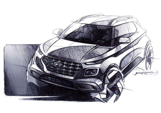 Sketch of Hyundai Venue