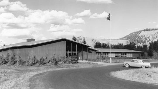 The Moose Visitor Center (1958) was one of two visitor centers built during Mission 66 in Grand Teton National Park.