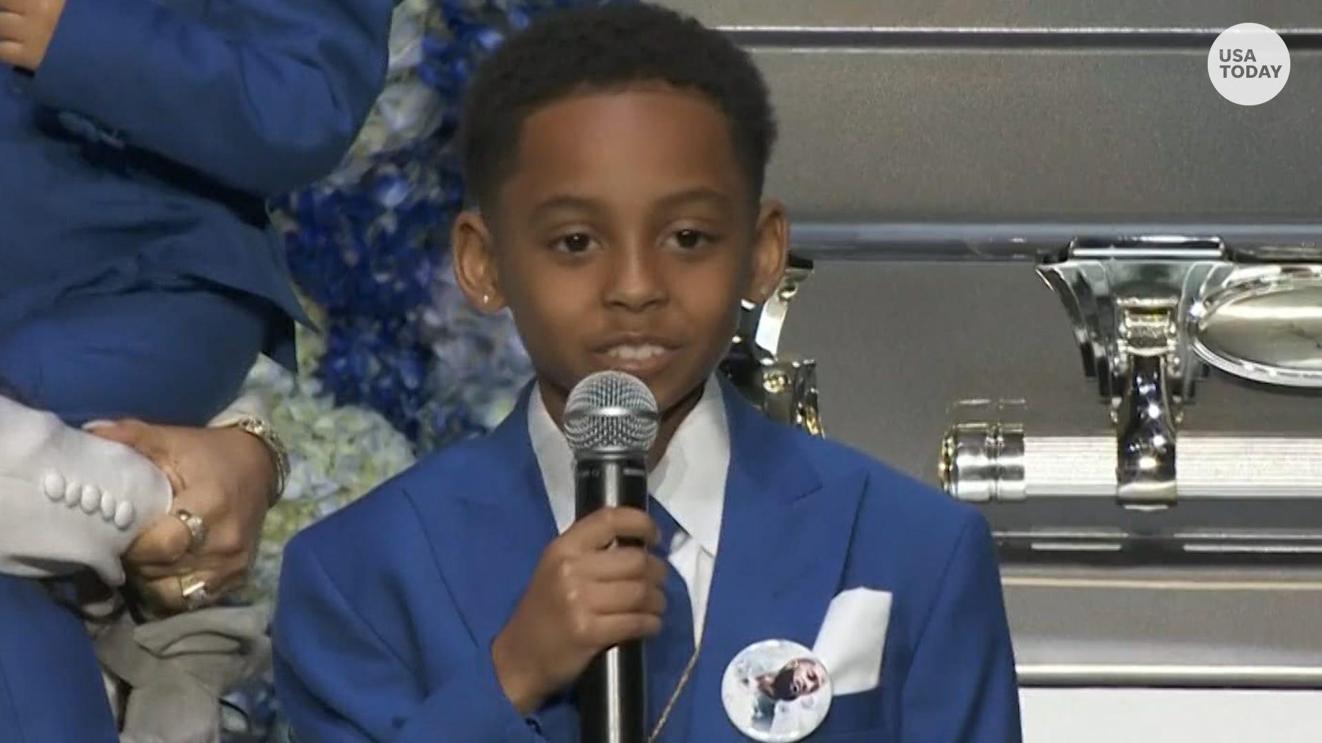 Son of Lil Wayne and Lauren London speaks at Nipsey Hussle ...Lauren London And Lil Wayne Son