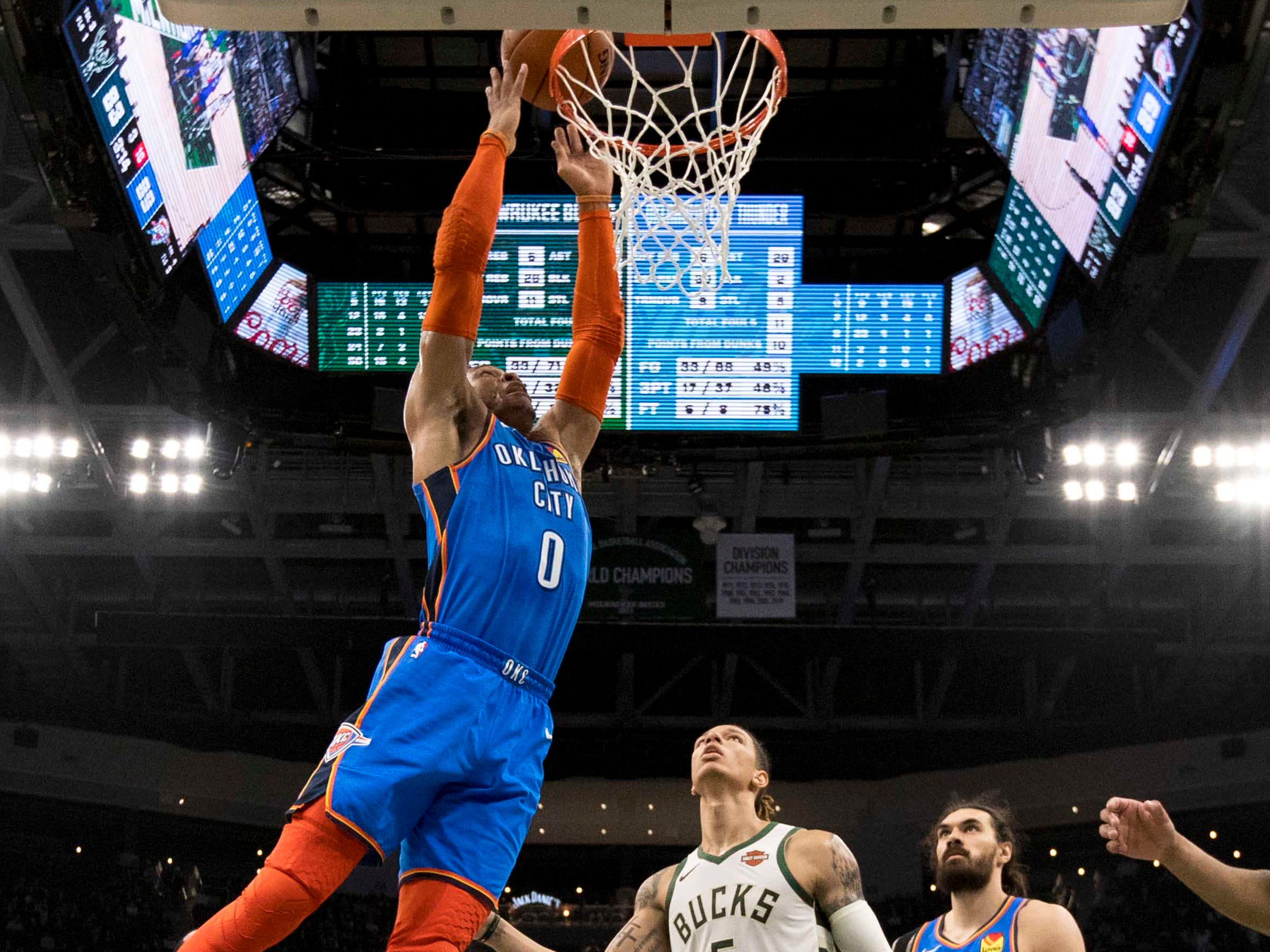 126. Russell Westbrook (April 10): 15 points, 17 assists, 11 rebounds in 127-116 win over Bucks  (33rd of season).