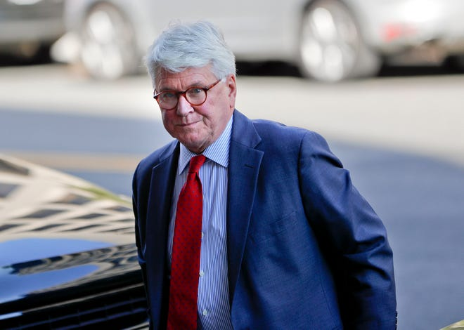 In this Oct. 17, 2016, photo, attorney Gregory Craig  arrives at U.S. District Court in Washington. Lawyers for former Obama administration White House counsel Craig say they expect their client to be charged in a foreign lobbying investigation that grew out of the special counsel's Russia probe.