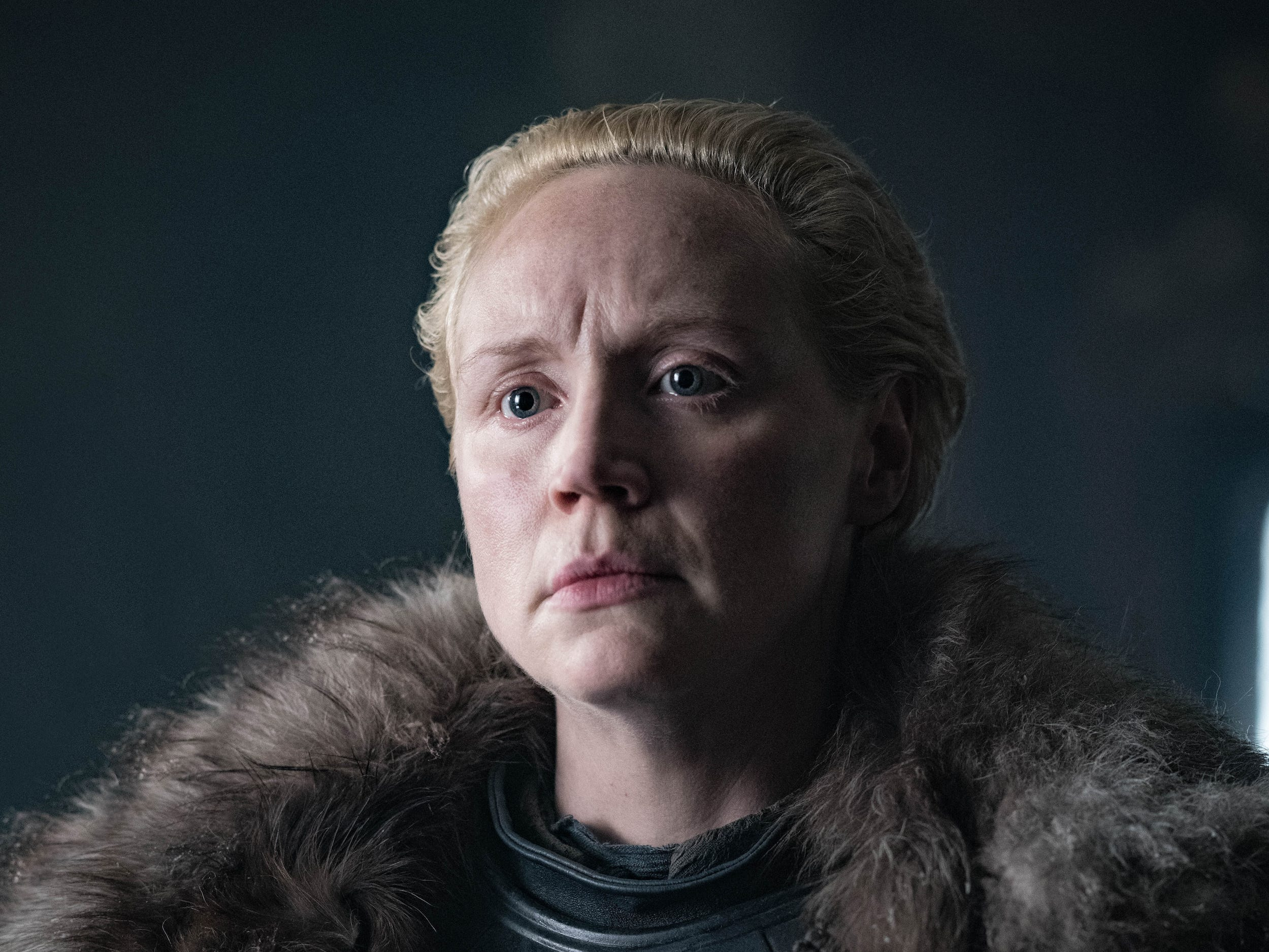 "Gwendoline Christie as Brienne of Tarth on ""Game of Thrones."""