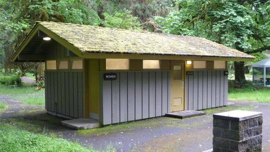 "There were 584 ""comfort stations,"" or restrooms, built during Mission 66."