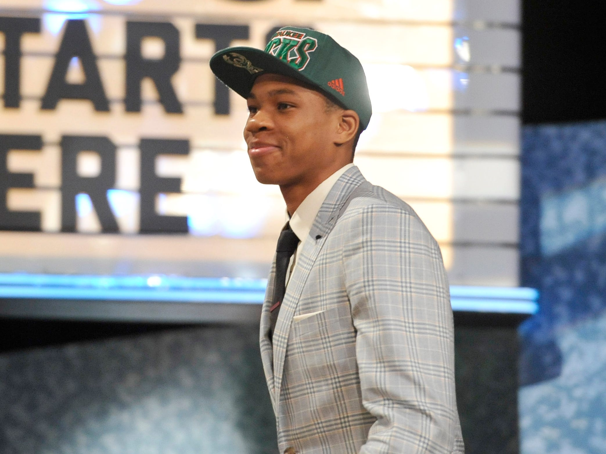 Antetokounmpo was a baby-faced 18-year-old when he was drafted 15th overall by the Bucks in 2013.