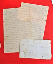 One of the letters donated to Louisiana College between Civil War soldier W.T. Beall and his wife, Rebecca.