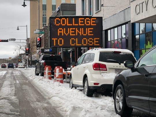 College Avenue crosswalks will be redone starting Monday.