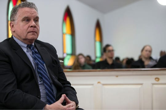 U.S. Rep. Chris at Friendship Baptist Church in Asbury Park earlier this year in this Asbury Park Press photo.