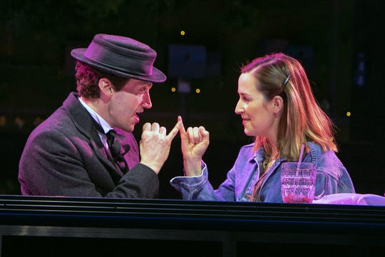 "Bryce Pinkham and Hannah Elless in ""Benny & Joon"" at Paper Mill Playhouse."