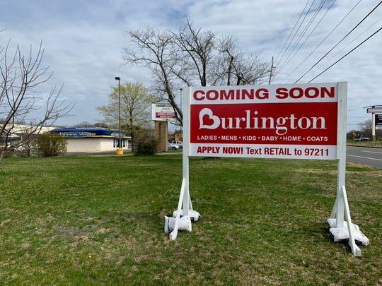 A sign on Hooper Avenue in Toms River announces a new Burlington coming soon.