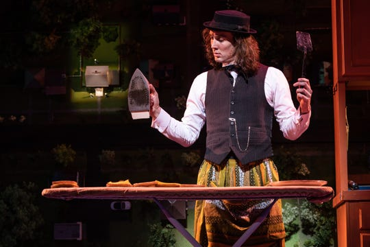 "Conor Ryan in ""Benny & Joon"" at Paper Mill Playhouse."