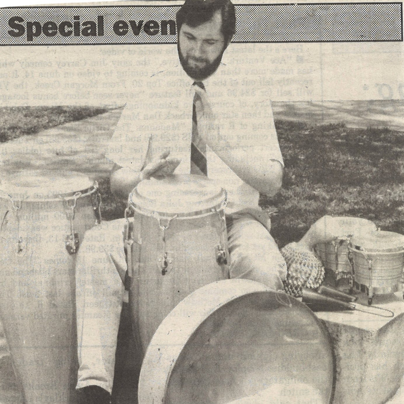 Years ago, Abilene Christian steelband was grooving to masters Mannette, Alexis