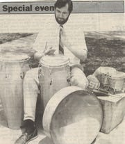 A Reporter-News story in April 1994 included a western-dressed Allen Teel with a variety of drums. Teel founded Steel Groves, a steelpan group, in 1992 and Abilene Christian University music professor directs a similar group today.