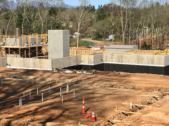 Phase I of Transformation Village, a project by ABCCM, is taking shape off Interstate 26 by the Brevard Road interchange. It will provide housing for homeless women.