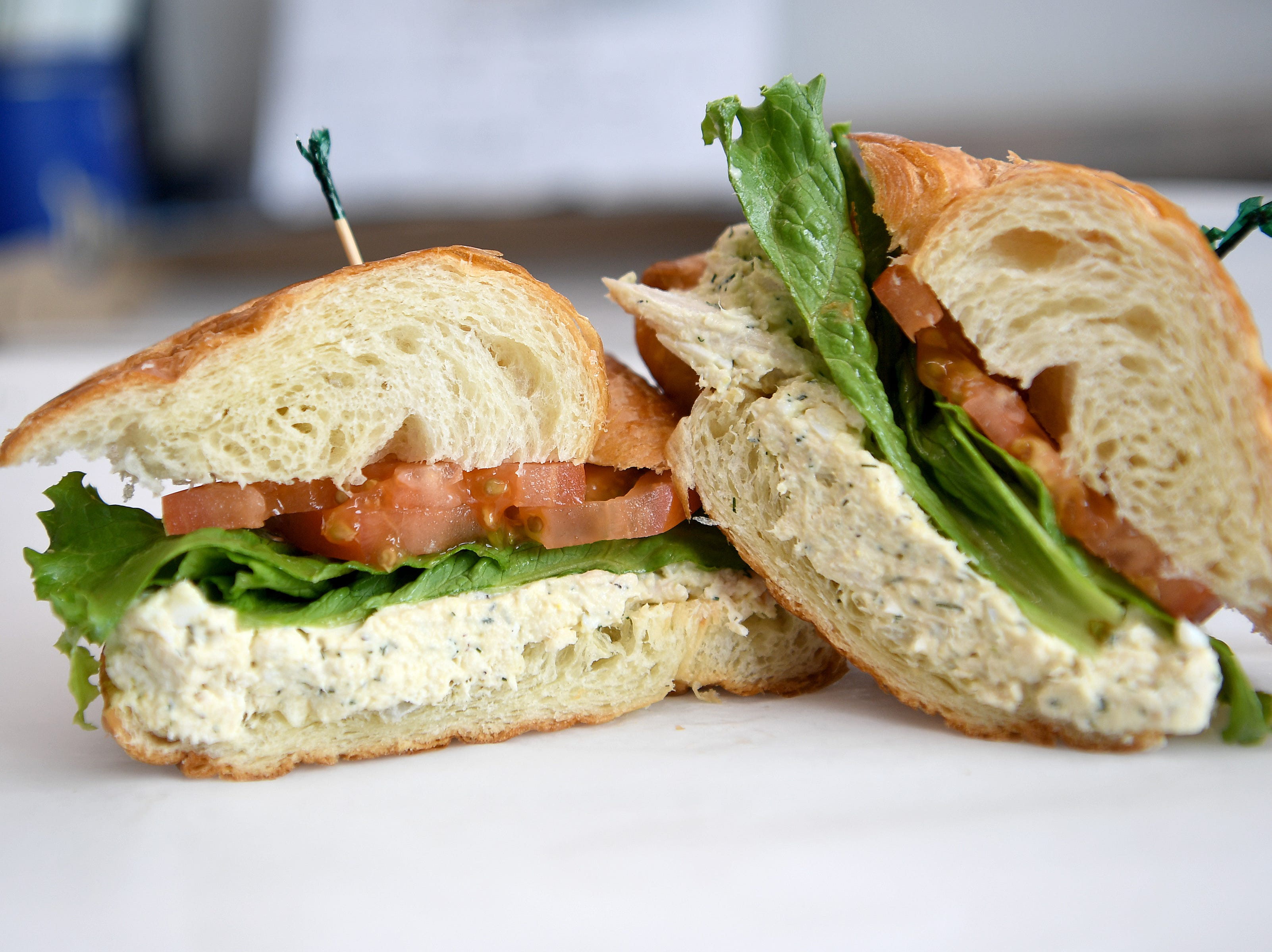 The chicken salad sandwich at High Test Deli and Sweet Shop on the South Slope is made with the deli's signature chicken salad on the customer's choice of bread.