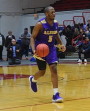Albion College freshman basketball player Zach Winston.