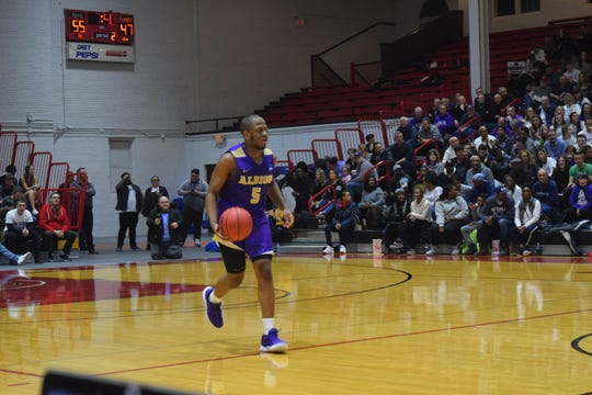 Albion College freshman basketball player Zach Winston.