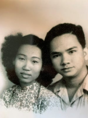 Hau Tat and her husband, Quang Tang, in an undated photo. The couple, born in China, emigrated to Bremerton in 1987.