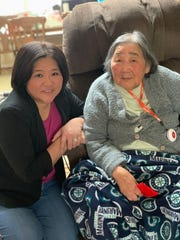 Leann Luong (left) and her grandmother, Hau Tat.