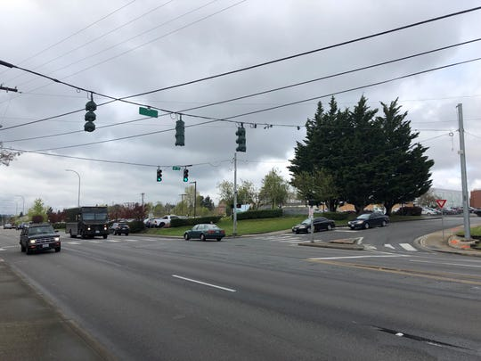 The entrance to Olympic College at 16th Street and Warren Avenue will be closed for up to a month starting Monday while crews widen a turn lane for buses.
