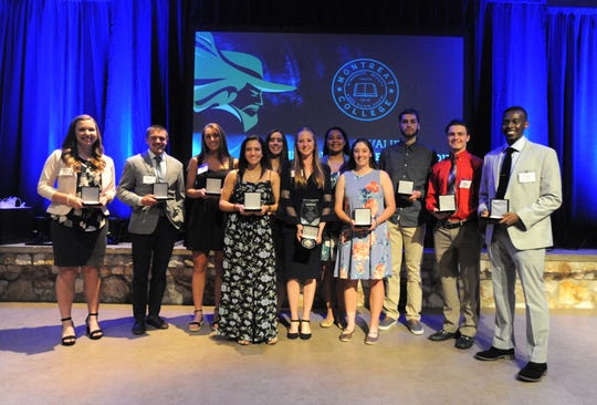 Eleven Montreat College athletes represented their teams at the 4th Annual Cavaliers Court of Excellence on April 12.