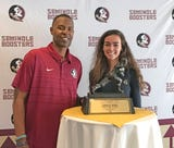 1993 Heisman Trophy winner Charlie Ward visited Brevard County to speak with the Brevard Seminole Club at Suntree Country Club.