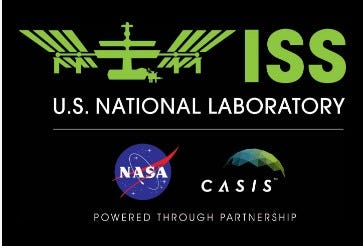 Logo for the Center for the Advancement of Science in Space, now known as the ISS National Lab.