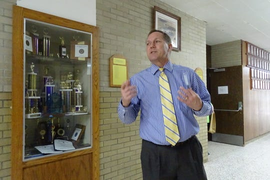 Wynford Superintendent Fred Fox talks about plans for the district's new junior high and high schools.