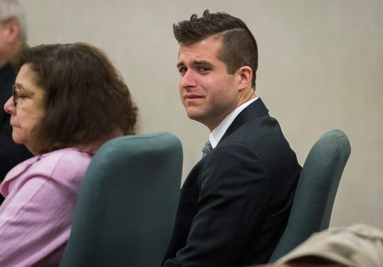 Michael McNeil, 29, appears in Vermont Superior Court in Burlington on Friday morning, April 12, 2019. McNeil pleaded guilty to sexually exploiting a teenage girl in his youth group when he was a youth pastor at Christ Memorial Church in Williston.